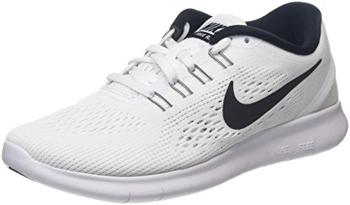Nike Women Free Running Shoes, White (White/Black), 3.5 UK 36 1/2 EU