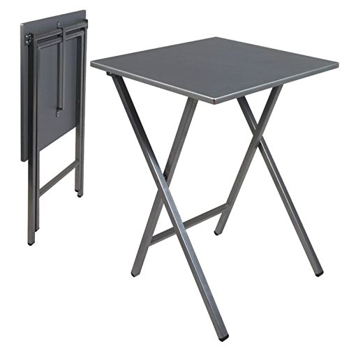 Mesa cuadrada gris 48 x 48 x 65 cm