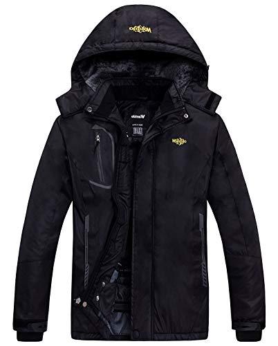 GRACE KARIN Women's Hooded Winter Coats Parkas Cotton Outwear Jacket L Black