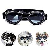 PEDOMUS Hunde Sonnenbrille Verstellbarer Riemen für UV-Sonnenbrillen Wasserdichter Schutz für kleine und mittlere Hunde Schwarz