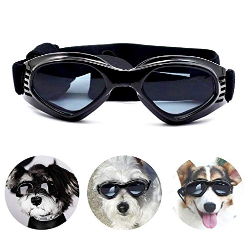 PEDOMUS Hunde Sonnenbrille Verstellbarer Riemen...