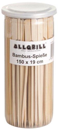 Allgrill Bambus-Spieße, Fingerfoodspieße, Bambusstick 19 cm lang, Inhalt 150 Stück