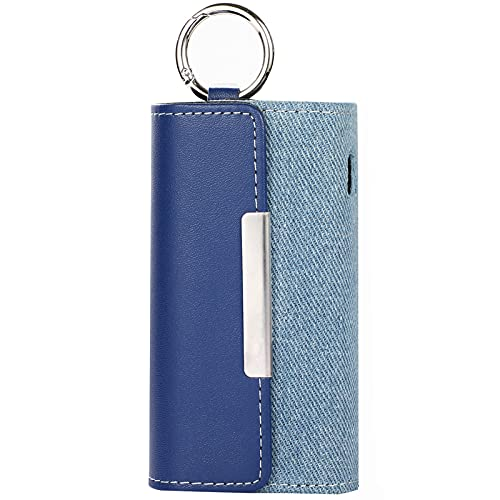 DrafTor E Zigarette Tasche, PU Leder Zigarettenetui für I-Q-O-S 3.0 mit Clip oder Schnalle (nur Geldbörse) (Blau 3)