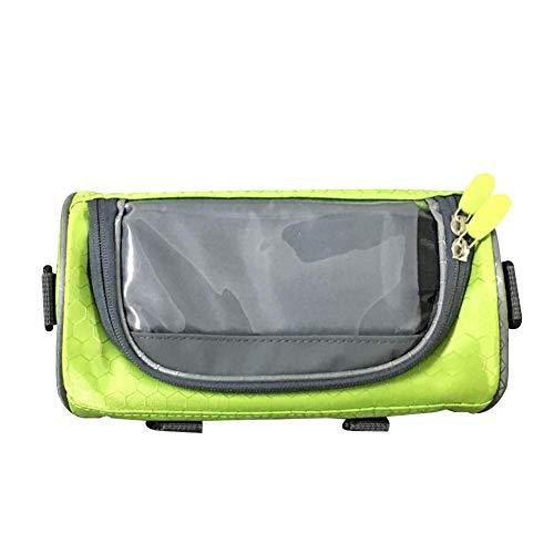 Bolsa para cuadro de bicicleta, resistente al agua, con pantalla táctil de TPU, resistente al agua, para smartphone de menos de 6,5 pulgadas