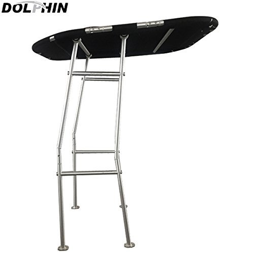 Best Price Dolphin Pro E Economic T-Top Fishing Boat Tower, Black Canopy,1.5 Brushed Anodized 6063 ...