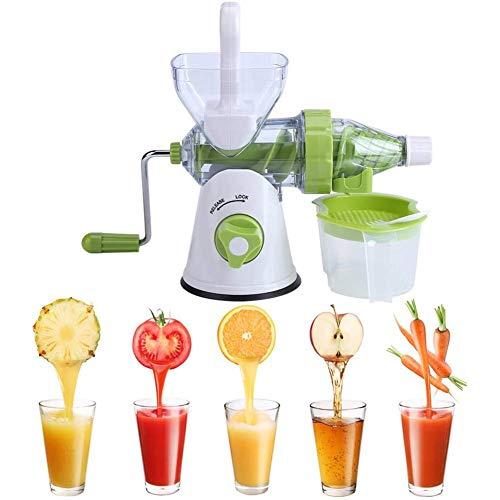 ZHJBD LEIJINGZI Handkurbel Juicer, eine einzige Schraube manuelle Saftpresse, EIN manuelles kaltgepresstes Entsafter Werkzeug for alle Obst und Gemüse in der Küche, leicht zu reinigen