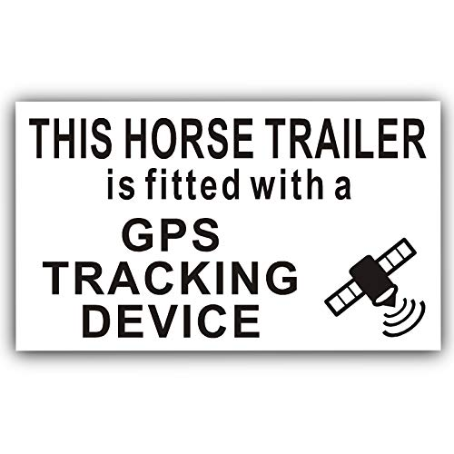 Platinum Plaats 1 x Paard Trailer GPS Tracker Waarschuwing Sticker-Paarddoos, Vrachtwagen, Vervoer, Tracking Device Beveiligingsbord