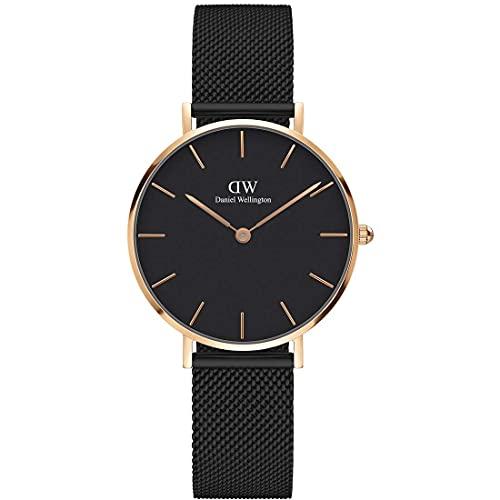 [Daniel Wellington] Reloj Daniel Wellington para mujer, modelo Classic Pettitte Ashfield de oro rosa, 32mm, DW00100201[bienes importados de forma regular]