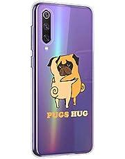 Oihxse Transparente Funda para Motorola Moto G6 Plus Ultrafina Silicona Suave TPU Carcasa Interesante Perro Patrón Flexible Protectora Estuche Antigolpes Anti-Choque (A9)
