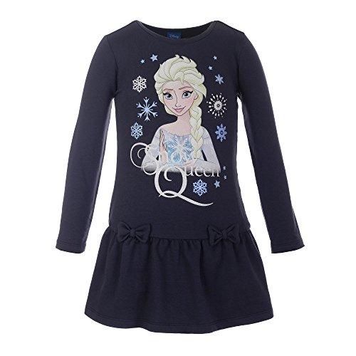 Disney Mädchen Die Eiskönigin Kleid, dunkelblau, Größe 128