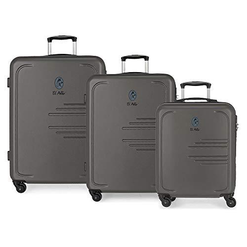 The Batan Colt, Set, 3 Suitcases, Grey