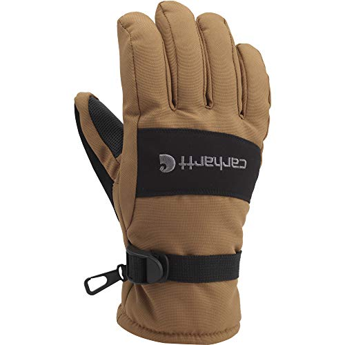 Carhartt Men's W.p. Waterproof Insulated Work Glove, Brown/Black, Large