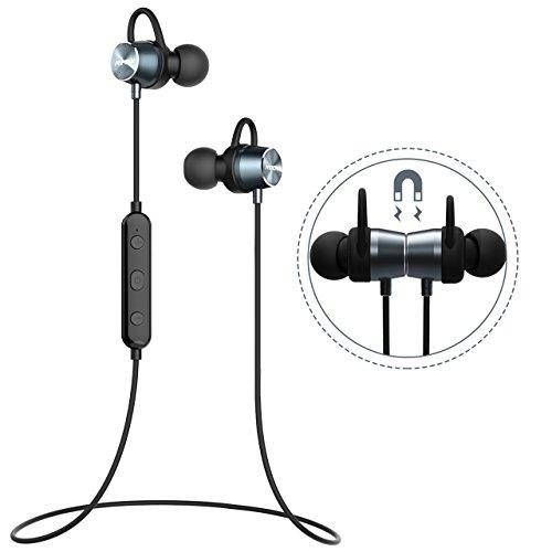 Auriculares Magnéticos Deportivos, Mpow Auriculares Bluetooth 4.1 Correr Inalámbricos Auricular Magnético Ruido de Cancelación CVC 6.0 In ear con Manos Libres Sport para Correr Running iPhone7 Plus 6S Samsung Huawei Sony