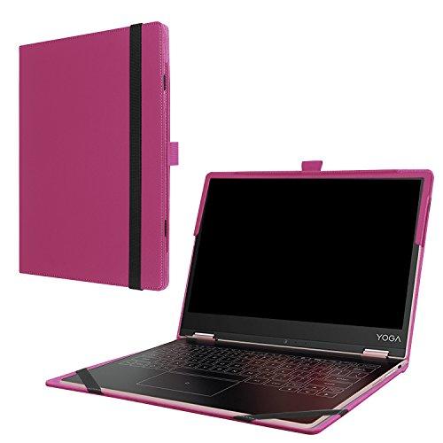 MaxKu Lenovo Yoga A12 Hülle Case, Ultra Schlank Smart PU Leder Cover Tasche Schutzhülle Case für Lenovo Yoga A12 mit Standfunktion, lila