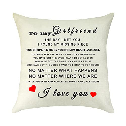 Decorative Cushion Cover to My Girlfriend Gifts from...
