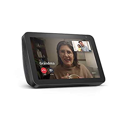 Echo Show 8 - stay connected and in touch with Alexa - Charcoal from Amazon