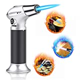 WOSTOO Kitchen Torch, Professional Butane Torch Culinary Torch Lighter Adjustable Flame with Safety Lock for DIY, Cream, Burnt, Barbecue, Cooking, Brazing, Camping