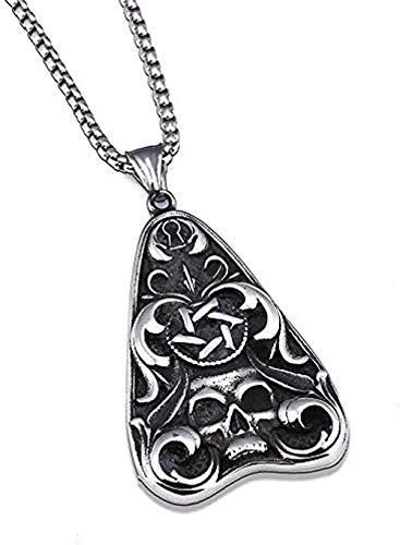 NC110 Los Hombres s de Rose del cráneo del triángulo del Collar Pendiente de los Hombres s joyería gótica de Acero Inoxidable de la Locomotora del Punk Rock YUAHJIGE