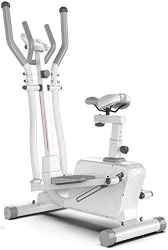 WYBD.Y Ellipsentrainer Standard Stride Crosstrainer für Krafttraining zu Hause oder im Fitnessstudio (Farbe: Weiß, Größe: 152 x 92 x 50 cm)
