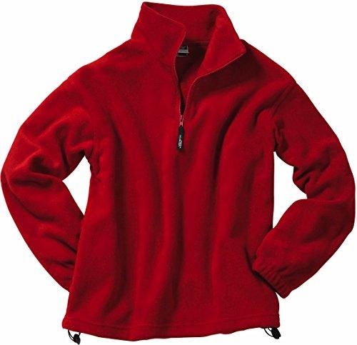 Half-Zip Fleece - Herren-Fleece Pullover, Gr: S-XXL, Half-Zip Fleece, Größe:M;Farbe:Rot