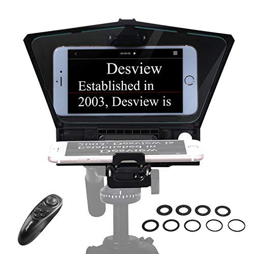[Official] Desview-T2-Teleprompter for Smartphone Tablet DSLR Camera Portable Teleprompter Kit with Remote Control & Lens Adapter Rings