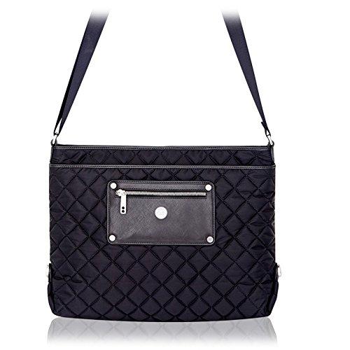 Knomo Silvi 11' 11' Ladies Black Suitcase - Laptop Bags (11'), Ladies Suitcase, Black, Nylon, 700g, 350 x 80 x 280mm)