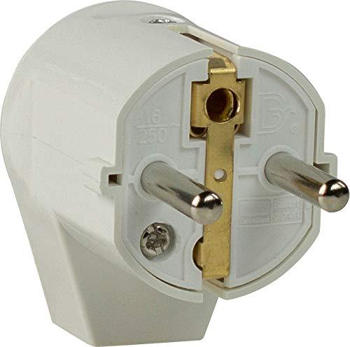 as - Schwabe 45041 Schutzkontakt-Winkelstecker, weiß, 230 V