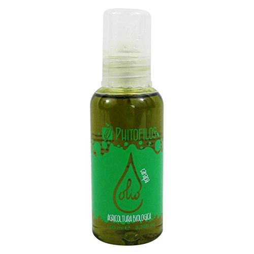 PHITOFILOS - Huile de Chanvre - Pour les cheveux secs et abîmés - Riche en acides gras et vitamines - Action hydratante - 100 ml