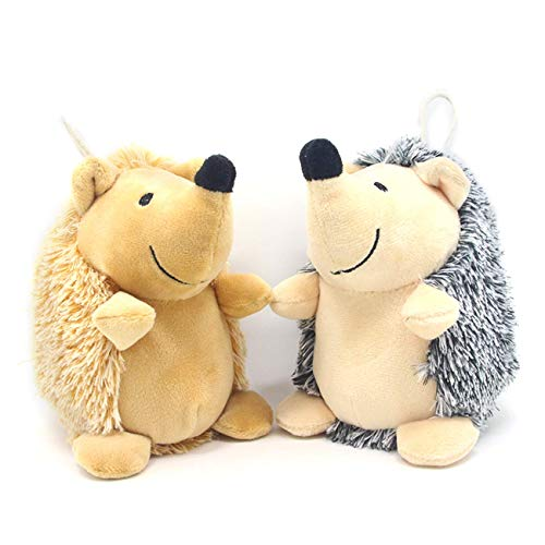 CPYOSN Hedgehog Dog Toys, Dog Squeak Plush Pet Toys Intreactive Training Stuffed Dog Chew Toys for Puppies and Small Dogs, 2 Pack