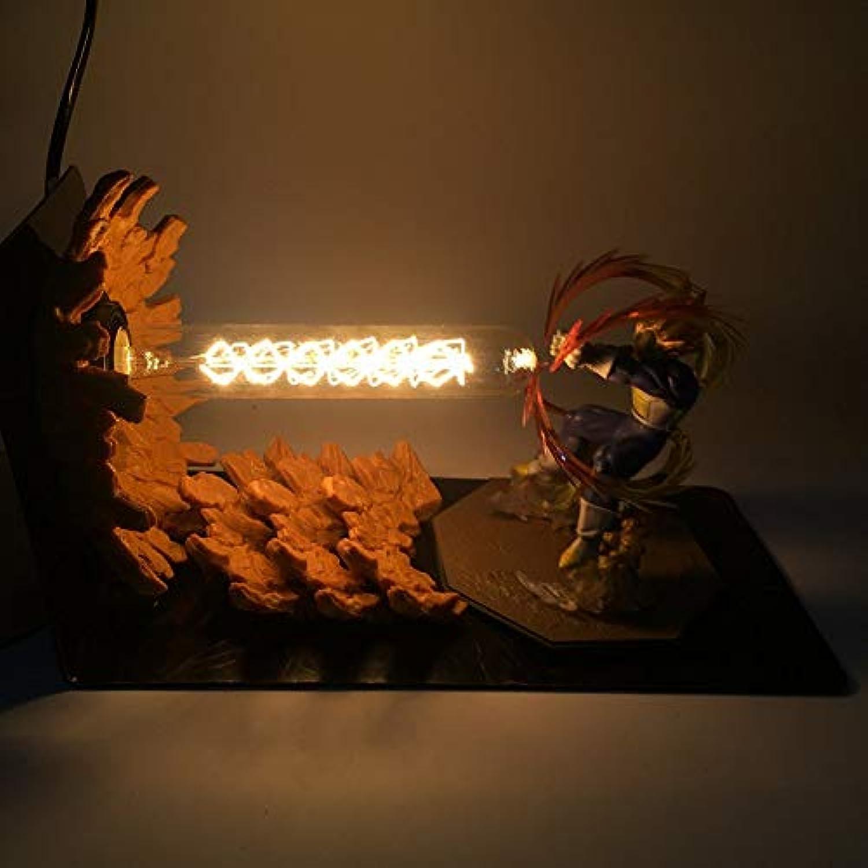 Dragon Ball LightAnime Dragon Ball Sun Wukong Hand kreative Tischlampe LED Schreibtischlampe Auge Lampe leuchtendes Spielzeug, D