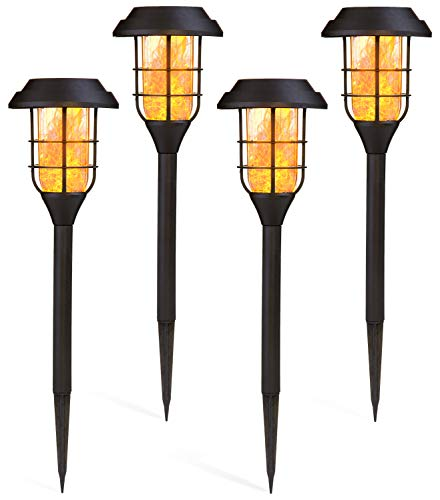 Deco Express Luci Solari Per Giardino, Pacco Da 4 Torce Led Effetto Fiamma, Torcia Per Illuminazione Esterno A Energia Solare, Regalo Per Casa Nuova