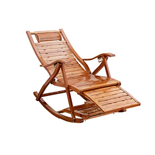 LLSS Silla Plegable, balcón Silla Mecedora función de Masaje, Respaldo de Ocio portátil Ajustable Sillón reclinable Plegable para Personas Mayores