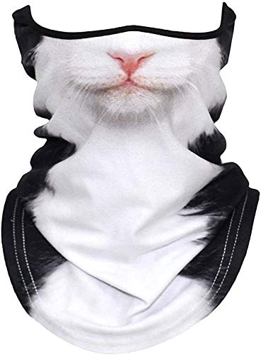 3D Animal Neck Gaiter Half Face Cat Mask for Skiing Cycling Motorcycling Halloween Party(31)