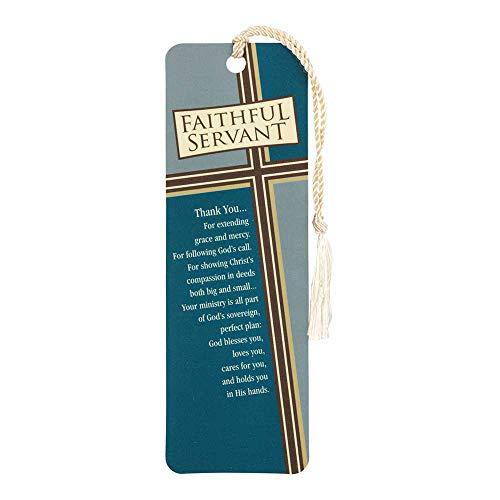 Faithful Servant Chestnut Cross Grid Cardstock Tassel Bookmark Tags, Pack of 12