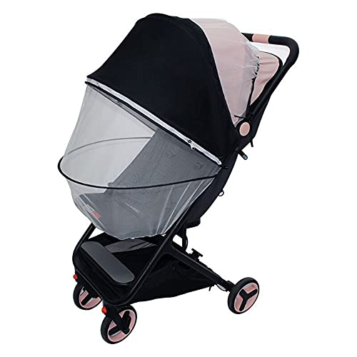 Universalgröße Sonnenschutz für Kinderwagen - Baby Sonnenverdeck für Buggy & Sportwagen Blockiert bis zu 99% UV UPF50+ Sonnendach und hilft Babys zu schlafen (Moskitonetz Version)