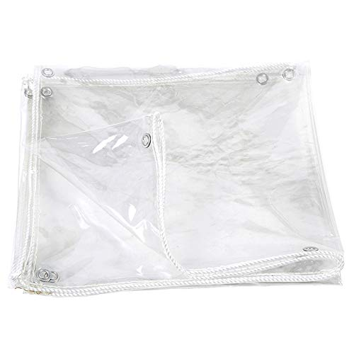 DGLIYJ- Abdeckplanen Lona Impermeable De PVC Transparente Engrosada para Exteriores, Lona Protectora Impermeable Resistente Al Desgarro, Lona Aislante Térmica De Invernadero Plegable(Size:1.2x2m)