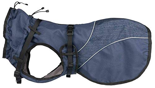 Trixie Mantel Duo mit Geschirr XS: 30 cm blau
