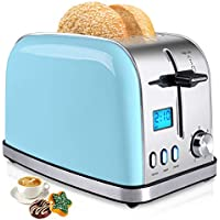 iFedio Wide Slots 2 Slice Toaster with 7-Shade