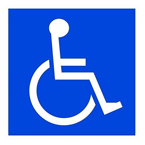 SSC 車椅子ステッカー 身障者用設備・障害者用設備 車いす 車イス 車両等への貼付に最適 障害用設備ありの標識/マークにも 右向き/151×151mm qb600030a02n0