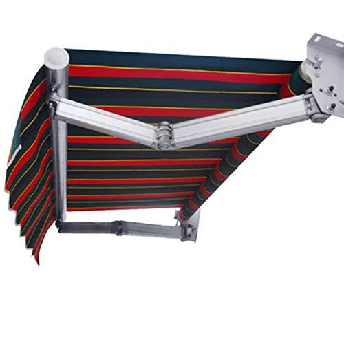 LWH toldo retráctil,150X150CM,Plegable y fácilmente retráctil Impermeabilización y protección Solar Resistente a los Rayos UV Brazo Curvo Impermeable+Osborne Paño