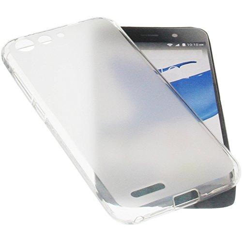 foto-kontor Tasche für ZTE Blade L6 Gummi TPU Schutz Handytasche transparent weiß