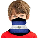 Verctor El Salvador Flag Striped1 Summer Cooling Neck Gaiter Face Scarf Mask para niños Adolescentes...