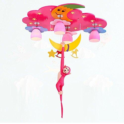 Creatieve aap-omarmings-maan LED 12W plafondlamp, kinderkamer-plafondlamp slaapkamer-maan-aap decoratieve kandelaar