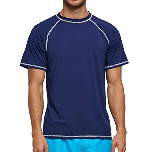 Arcweg Camiseta Hombres Mangas Cortas Rash Guard de Protección UPF 50+Secado Rápido...