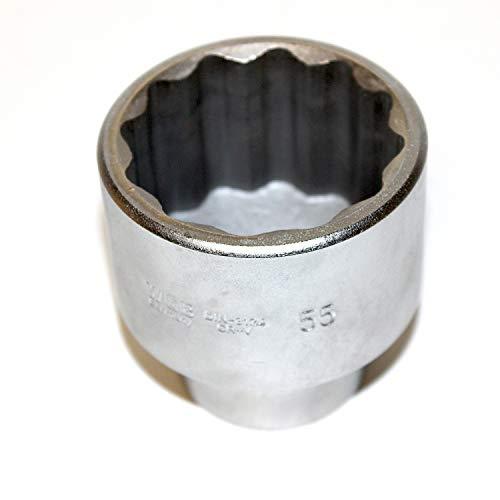 Steckschlüsseleinsatz Stecknuss Zwölkant 3/4 zoll 20 mm Antrieb. Schlüsselweite SW 55 mm CV-Stahl sehr gute Qualität. WGB, 10 Jahre Garantie, Metrische 12 kant Nuss, Steckschlüssel, Zwölfkantnuss.