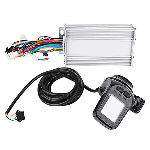Controlador de bicicleta eléctrica, panel de pantalla LCD Controlador eléctrico sin escobillas Controlador de motor de scooter con modo de suspensión y modo de ajuste de marcha para(500W48V)