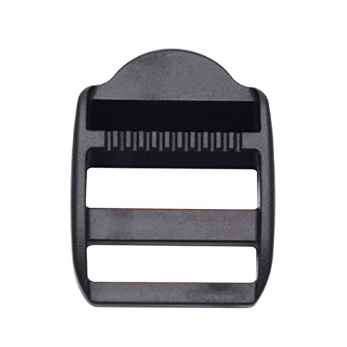 KEEJEA 25 mm plastic Sliding Ladder Lock Adjust Buckles for Webbing Strap Backpack, 1 10 Package