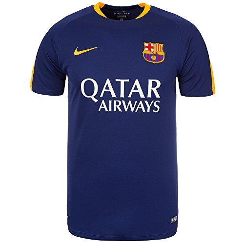 Nike Maillot Officiel dentrainement FC Barcelone Bleu et Jau