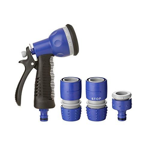 Tatay Kit con Pistola de riego 7 Posiciones, 2 empalmes rapidos y un Conector Grifo. Soft Touch y con propiedades Anti-UVA.