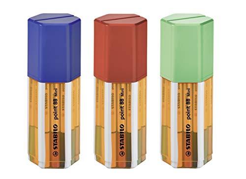 Fineliner - STABILO point 88 Mini - 18er Box - mit 18 verschiedenen Farben
